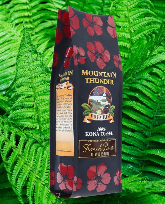 Mountain Thunder Premium French Roast 100% Kona Coffee - 7 oz