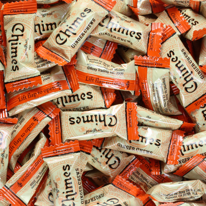 Chimes Orange Ginger Chews loose individual wrap pices