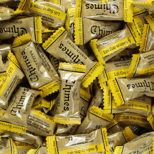 Chimes Peanut Butter Ginger Chews individually wrap candy
