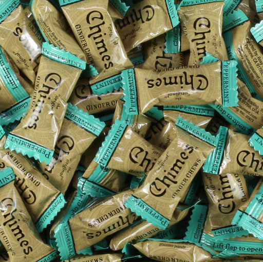 Chimes Peppermint Ginger Chews individually wrap candy