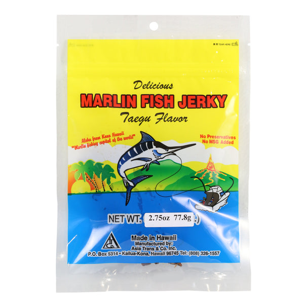 Taegu Marlin Jerky - 1 oz, 2.75 oz or 16 oz