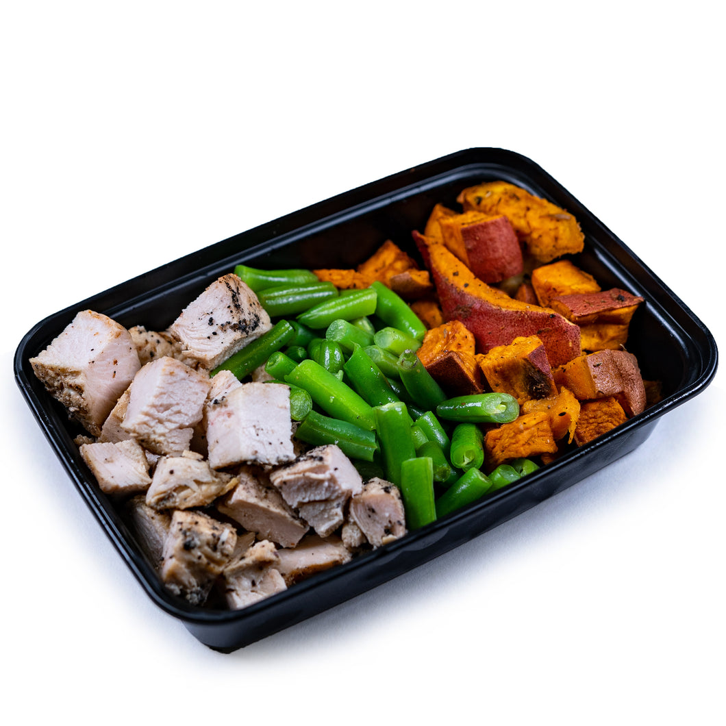 Chicken, Green Beans and Sweet Potatoes