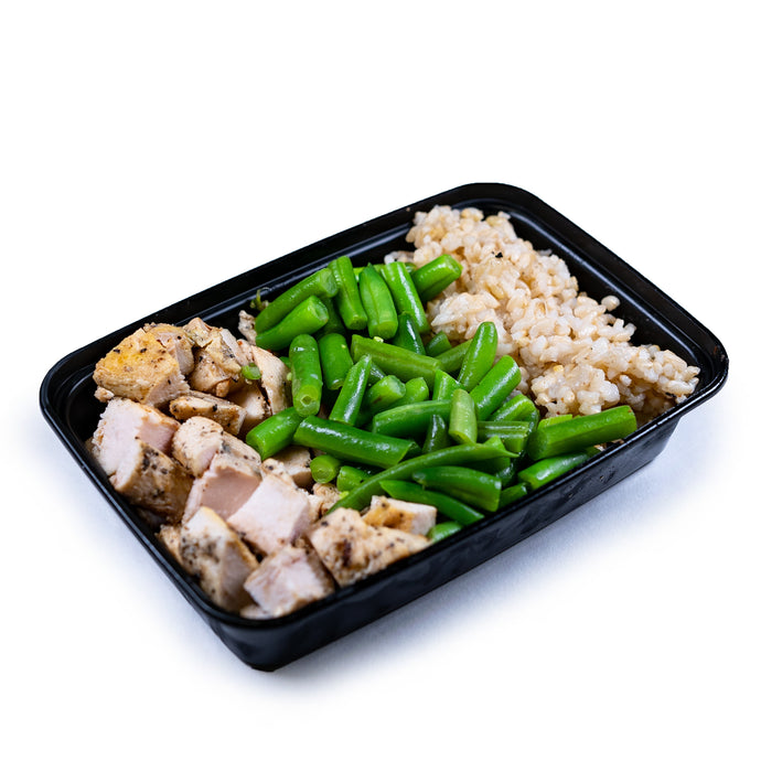 Chicken, Green Beans and Brown Rice - Dimino's Kitchen