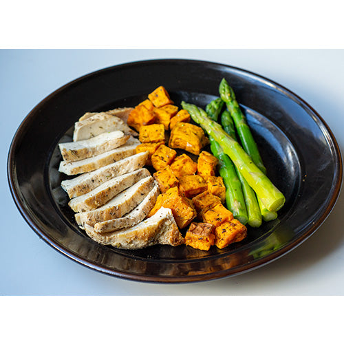 Chicken, Sweet Potatoes, Asparagus - Dimino's Kitchen