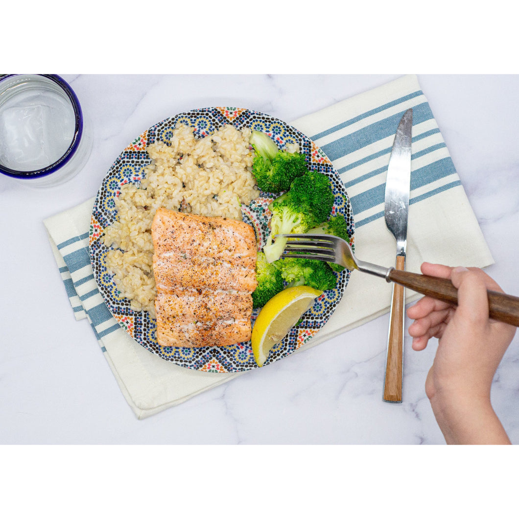 Salmon, Broccoli, Brown Rice - Dimino's Kitchen