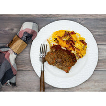Meatloaf with Loaded Cauliflower Mash (Keto Friendly) - Dimino's Kitchen