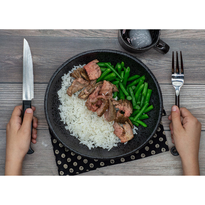 Steak, Green Beans and Rice - Dimino's Kitchen