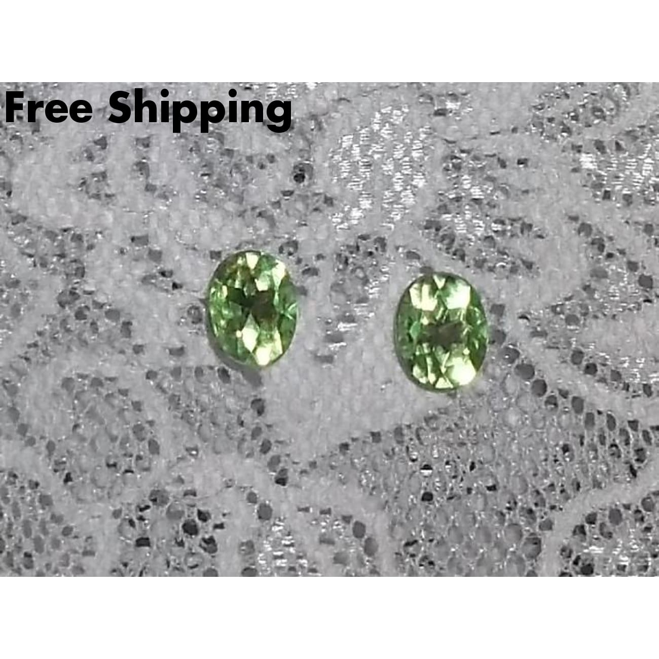 Oval Peridot Green Crystal August Birthstone Silver Tone Stud Post Back Earrings Gift For Her Birthday Gift - Earrings