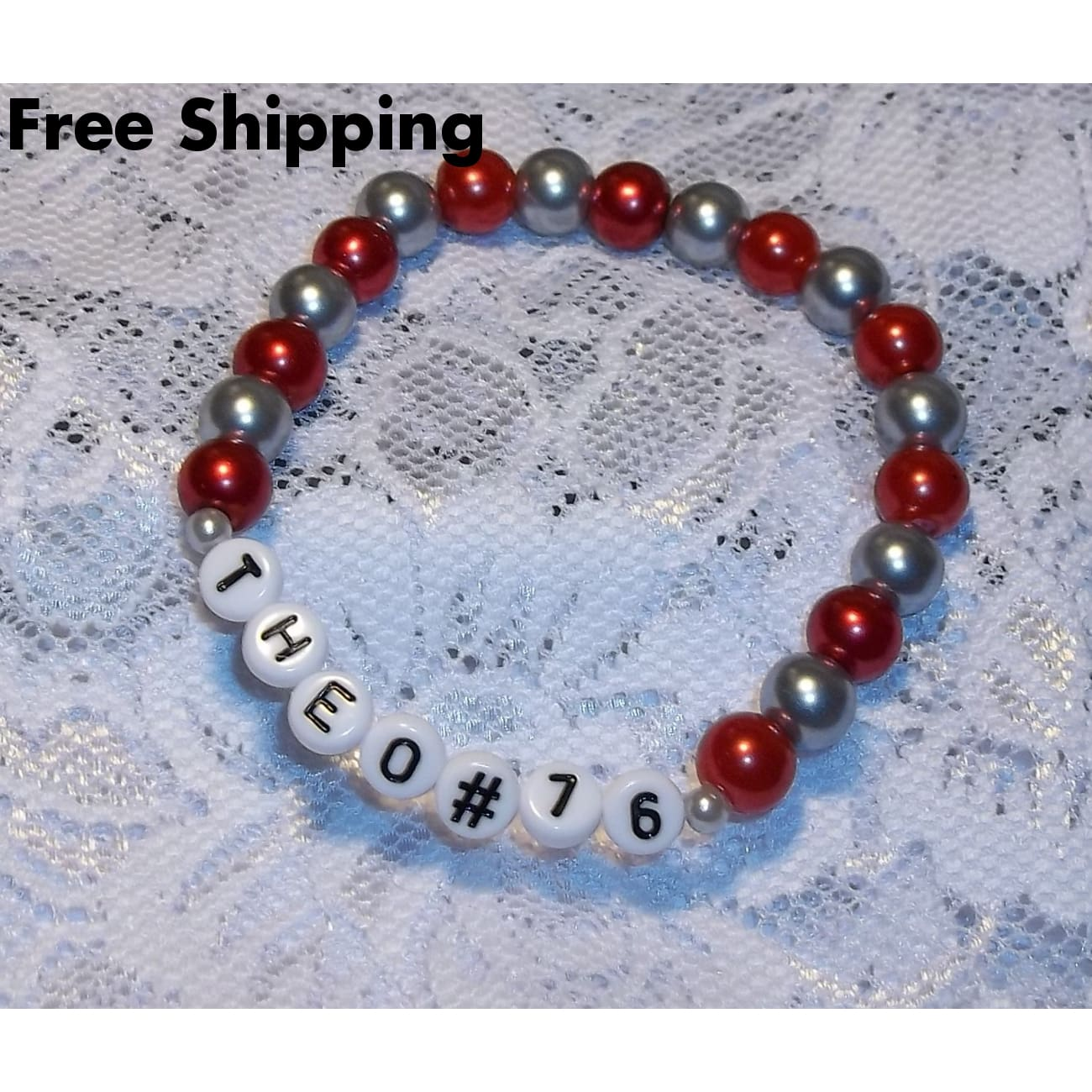 Personalized Sports Team Mom Artisan Crafted Stretch Bracelet (Made To Order Only) - New Arrival