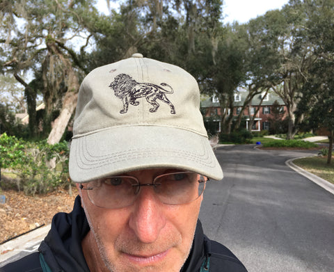 Embroidered Lion Baseball Cap