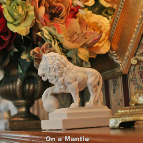 Single St. Augustine Lion Replica on Table