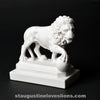 Small marble replica of lion on Bridge of Lions St. Augustine Florida orb on right side