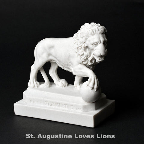 St. Augustine Lion Replica Single Angled Facing Frontward