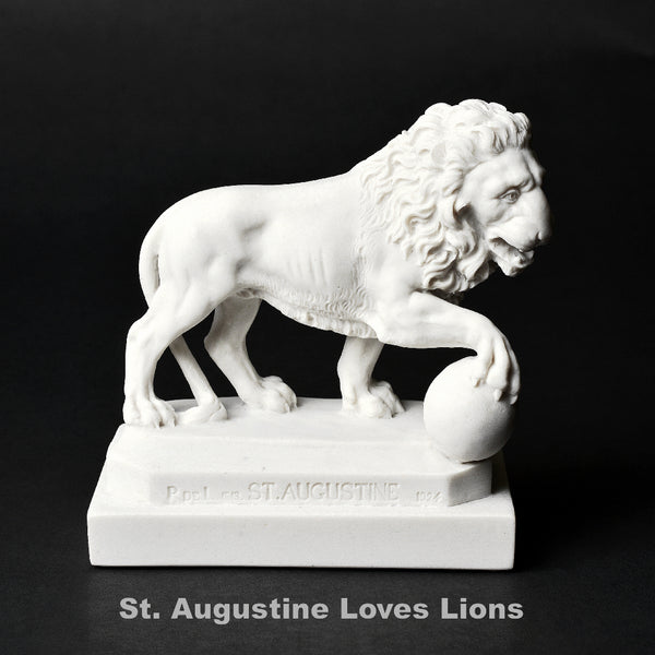 Single Marble St. Augustine Lion