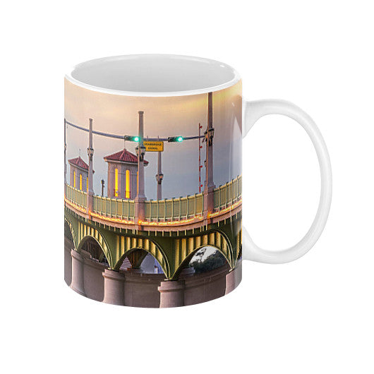 Bridge of Lions at Sunset Coffee Mugs 11oz - St. Augustine Loves Lions