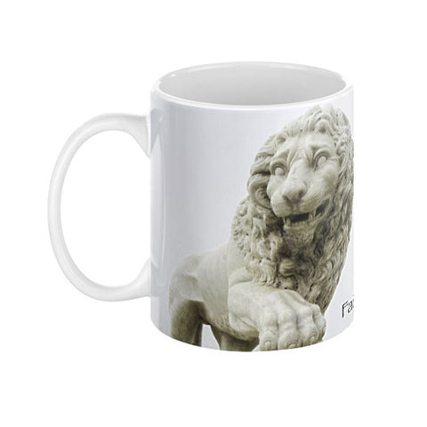 St. Augustine Lions Faithful & Firm Coffee Mugs left view 11 oz