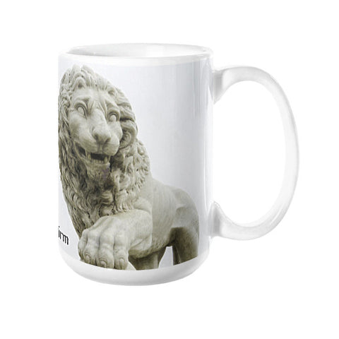 St. Augustine Lions Faithful & Firm Coffee Mugs right view 15 oz