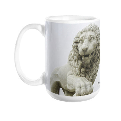 St. Augustine Lions Faithful & Firm Coffee Mugs left view 15 oz