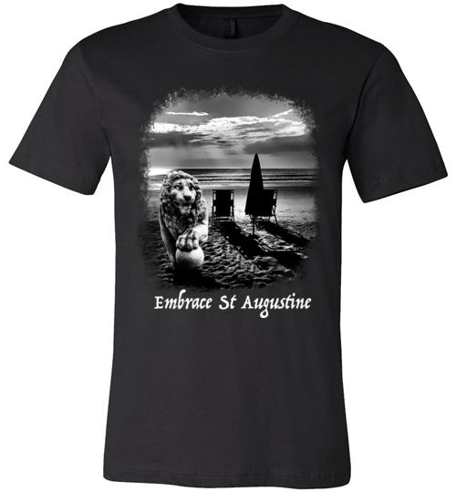 Embrace St. Augustine Lion on Beach Tees