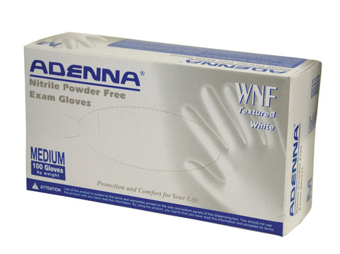 Adenna White Nitrile Powder Free
