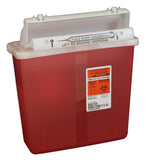 5 Qt. Transparent Red Sharpstar with Counter Balance Lid