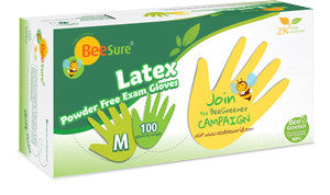 BeeSure Powder Free Latex Gloves