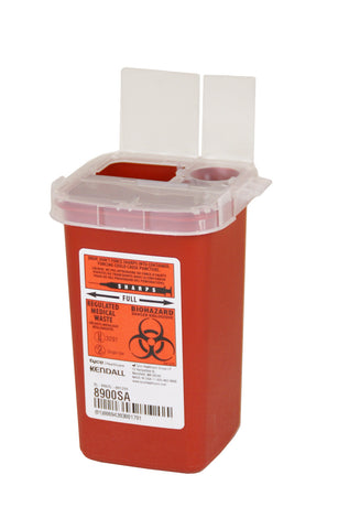 1 Quart Red Sharps Container
