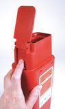 1 Quart Flip-Top Transportable Sharps Container