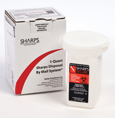 Refill Sharps Recovery System 1 Quart Needle Disposal Container