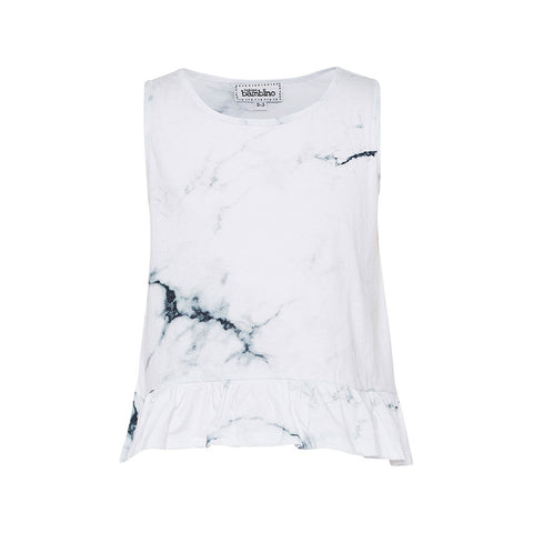 Casper Marble Frill Cropped Tank