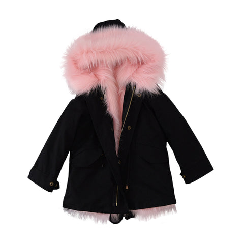 Fab Fur Real Coat - Light Pink