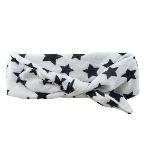 Tie It Up Knotted Headband - White Star