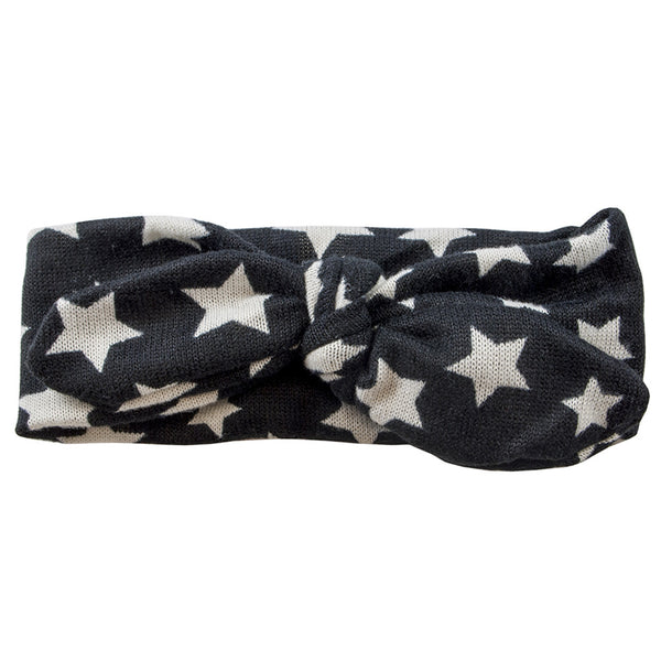 Tie It Up Knotted Headband - Black Star