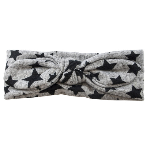 Tie It Up Knotted Headband - Grey Star