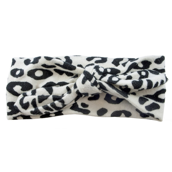 Tie It Up Knotted Headband - Snow Leopard