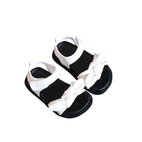 Top Knot Sandals - White