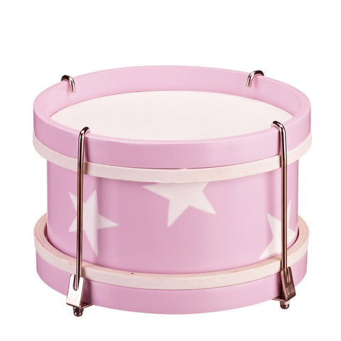 Star Wooden Toy Drum - Pink