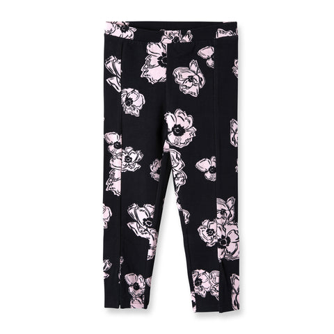 Pink Poppy Ankle Slit Leggings