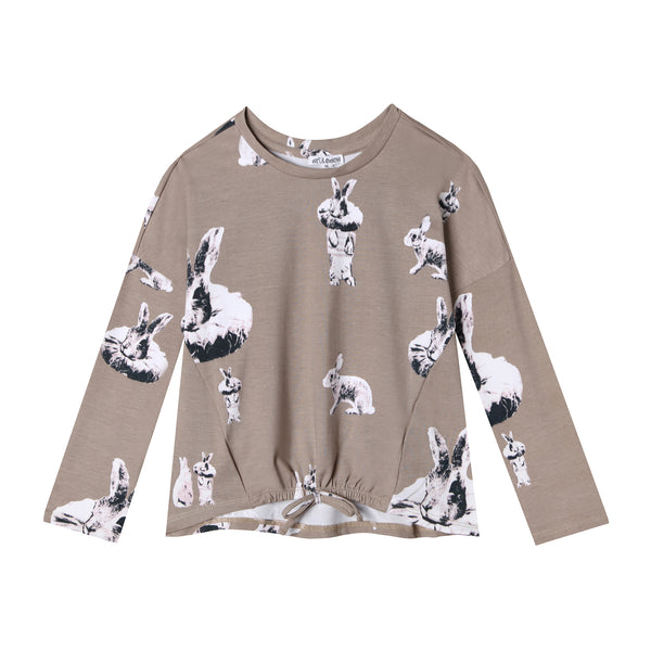 Blazing Bunny Tie Front Long Sleeve