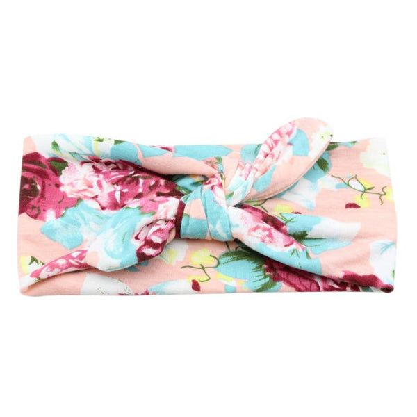 Tie It Up Knotted Headband - Pink Floral