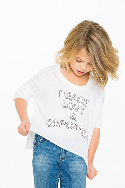 Chaser Kids Peace Love & Cupcakes Tee