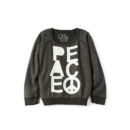 Chaser Kids Peace in Fleece Sweatshirt
