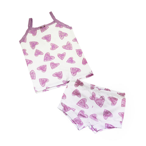 Esme Lots of Love Shorts Pajama Set - Baby