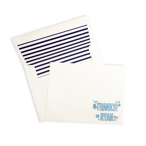H&H x Marissa Allie Designs Personalized Thank You Notes - Blue