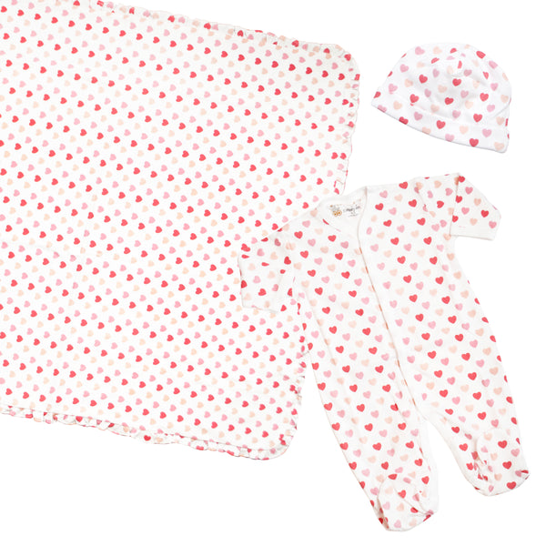 Filled with Love Organic Cotton Footed Pajamas