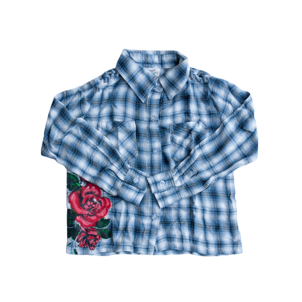 Flowers by Zoe Rockin Rose Flannel