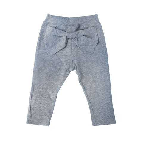Bow Leggings - Heather Grey