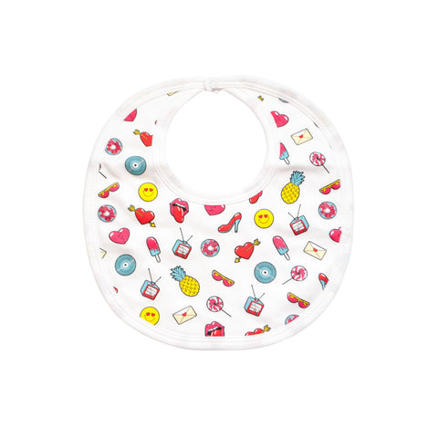 Emojis Galore Organic Cotton Bib