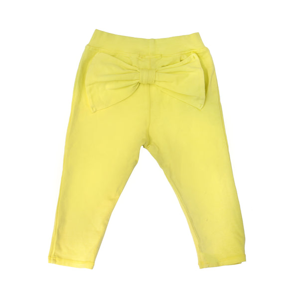 Bow Leggings - Blazing Yellow