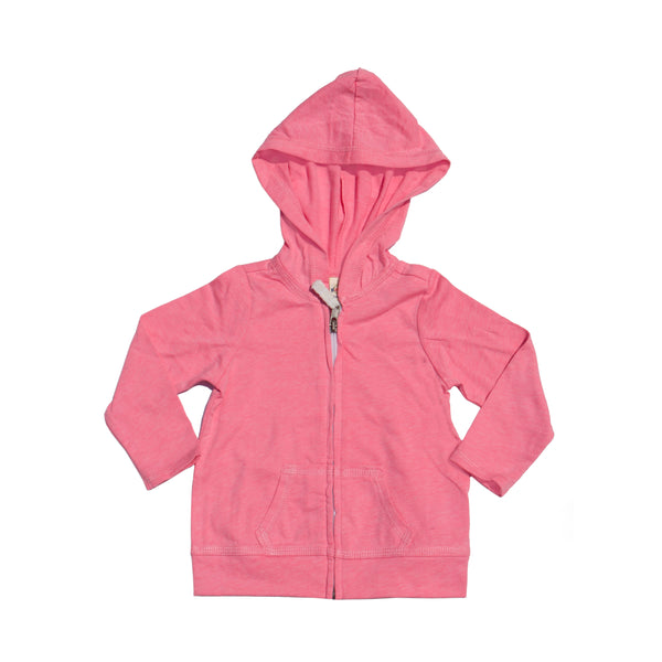 Basic Babe Contrast Hoodie - Hot Pink